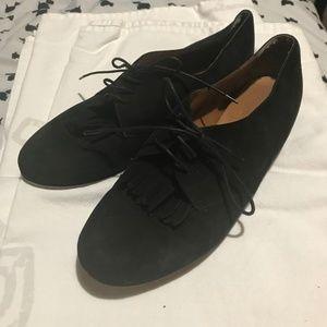 00fe05077e Madewell Black Suede Kiltie Oxfords Size 9.5